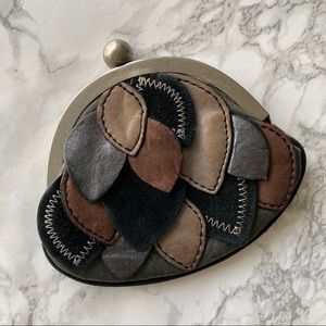 Fossil leather multi bonbon patchwork coin purse